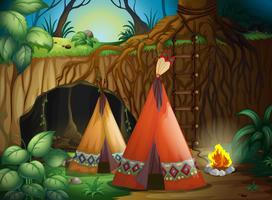Une tente dans la nature