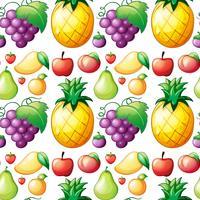 Seamless divers types de fruits vecteur