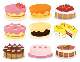 Collection de gâteaux 2 vecteur