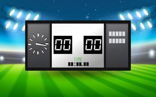 Tableau de pointage dans le stade