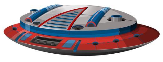 Vaisseau spatial rond avec un design moderne vecteur