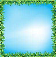 Cadre de feuilles vecteur