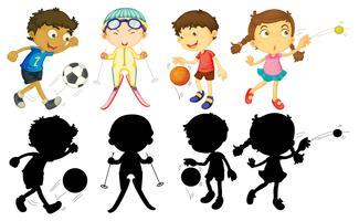 Les enfants font des sports différents