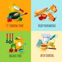 Concept de design de cuisine vecteur