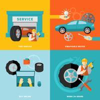 Set de service de pneu vecteur