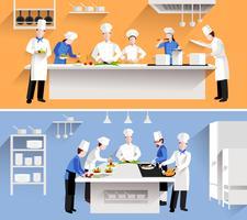 Illustration du processus de cuisson vecteur