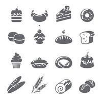 Icônes de cuisson noir vecteur