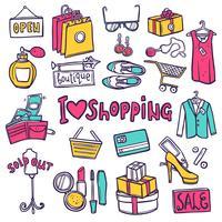 shopping ensemble d'icônes