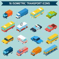 Jeu d'icônes de transport isométrique