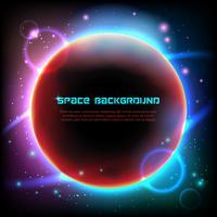 Impression d'affiche sur fond noir de l'espace Cosmos vecteur