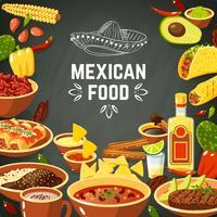 Illustration de la cuisine mexicaine vecteur