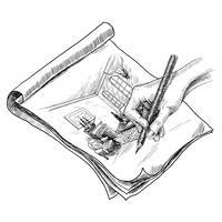 Illustration de croquis de salle