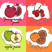 Concept de design de fruits vecteur