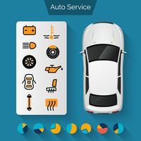 Infographie du service automobile