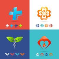 Ensemble de logo médical vecteur