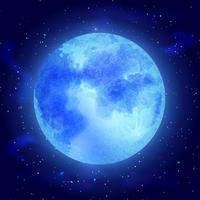 Lune avec étoiles vecteur
