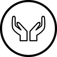 Icône de prière de vecteur