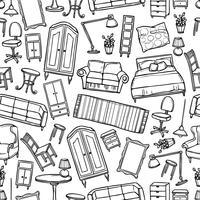 Modèle sans couture de meubles vecteur