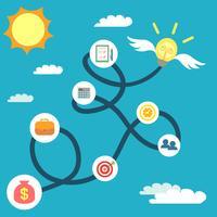 Concept de croissance des entreprises vecteur