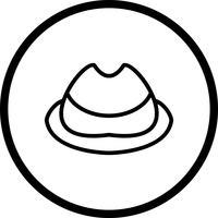 Icône de casquette de vecteur