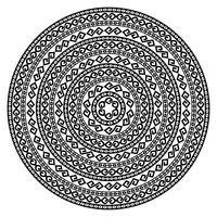 Forme de vecteur ornemental rond isolé sur blanc.