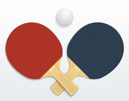 tennis de table vecteur