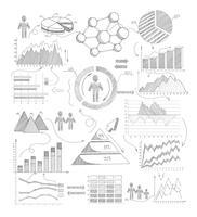 Schémas d'esquisses infographiques