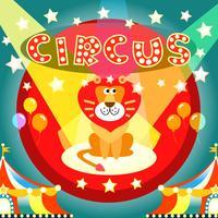 affiche de cirque vecteur