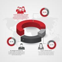 Infographie de la composition de l'équipe commerciale vecteur
