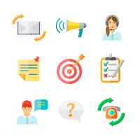 Commentaires Web Icons Set vecteur