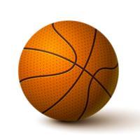 Icône de ballon de basket réaliste vecteur