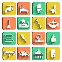 Outils de plomberie Icons Set
