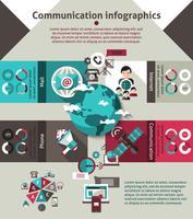 Set d'infographie de communication vecteur