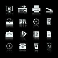 Ensemble de pictogrammes de fournitures de bureau