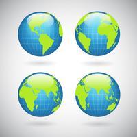 Ensemble d'icônes globe terrestre
