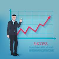 Affiche d'homme d'affaires réussi vecteur