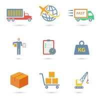 Icônes logistiques à plat