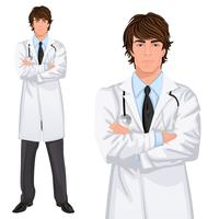 Jeune homme docteur vecteur