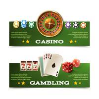 Jeu de bannières de casino vecteur