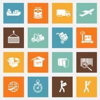 Collection de pictogrammes de services logistiques vecteur