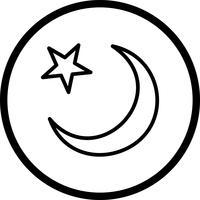 Icône de croissant de lune de vecteur