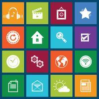 Icônes de médias sociaux mobiles
