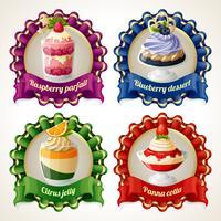 Bannières de ruban de bonbons vecteur