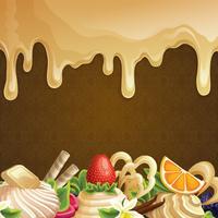 Fond de bonbons au caramel