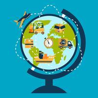 Concept de réseau logistique