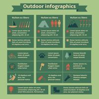 Éléments d'infographie de voyage en plein air