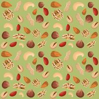 Modèle sans couture de mélange de noix