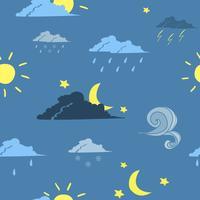 Fond de prévisions météo sans faille vecteur