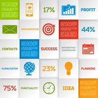 Carrés infographiques d'affaires