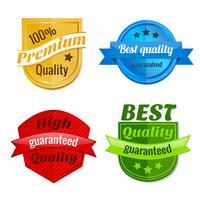 Collection de badges d'offres de produits vecteur